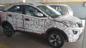 Berry Red Tata Nexon front quarter snapped