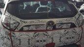 Berry Red Tata Nexon rear snapped