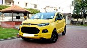 Custom Ford EcoSport Triple Yellow Matte Paint Job front
