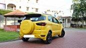 Custom Ford EcoSport Triple Yellow Matte Paint Job rear quarter