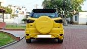 Custom Ford EcoSport Triple Yellow Matte Paint Job rear