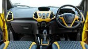 Custom Ford EcoSport with Triple Yellow Matte Paint Job dashboard