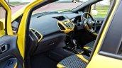 Custom Ford EcoSport with Triple Yellow Matte Paint Job interior