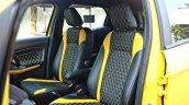 Custom Ford EcoSport with Triple Yellow Matte Paint Job seats