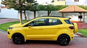 Custom Ford EcoSport with Triple Yellow Matte Paint Job side