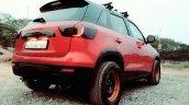 Custom Maruti Vitara Brezza red rear quarter