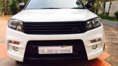 Custom Maruti Vitara Brezza with dual tone white and black exterior front