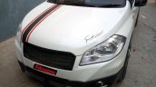 Dual tone Maruti S-Cross with stripes by AK Customs grille