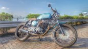 Hero Karizma cafe racer by Incendiary Motorcycles front three quarter