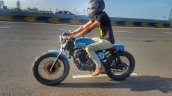 Hero Karizma cafe racer by Incendiary Motorcycles motion side