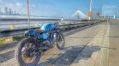 Hero Karizma cafe racer by Incendiary Motorcycles rear three quarter