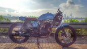 Hero Karizma cafe racer by Incendiary Motorcycles side right sea view