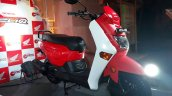 Honda Cliq launch India front three quarter left red