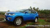 Jeep Compass front three quarters review