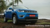 Jeep Compass front three quarters view review