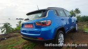 Jeep Compass rear three quarters review
