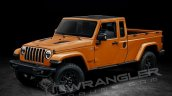 Jeep Wrangler Pickup extended cab rendering