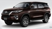 MY2017 Toyota Fortuner front three quarter launched in Thailand