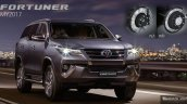MY2017 Toyota Fortuner launched front in Thailand