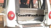 Mahindra Jeeto van rear spied undisguised first time