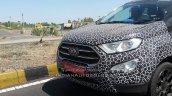 Panther Black 2017 Ford EcoSport front fascia spy shot Chennai