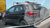 Panther Black 2017 Ford EcoSport rear three quarters left side spy shot