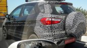Panther Black 2017 Ford EcoSport rear three quarters spy shot