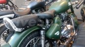 Royal Enfield Classic Battle Green spy shot Bangalore side
