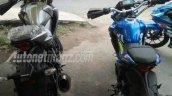 Suzuki GSX-S150 modified trail bike rear three quarter