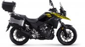 Suzuki V-Strom 250 studio side yellow