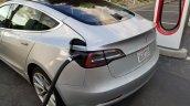 Tesla Model 3 charging spy shot