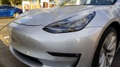 Tesla Model 3 front fascia left side spy shot