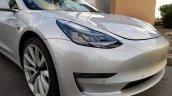 Tesla Model 3 front fascia spy shot