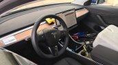 Tesla Model 3 interior spy shot