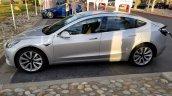 Tesla Model 3 left side spy shot