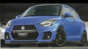 2017 Suzuki Swift Sport blue front three quarters rendering