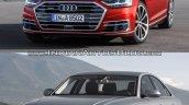 2018 Audi A8 vs. Audi 2014 Audi A8 - Old vs. New front three quarters left side