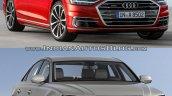 2018 Audi A8 vs. Audi 2014 Audi A8 - Old vs. New front three quarters
