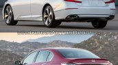 2018 Honda Accord vs. 2016 Honda Accord rear three quarters