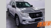 2018 Toyota Land Cruiser Prado (facelift) front three quarters right side spy shot