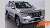 2018 Toyota Lanad Cruiser Prado (facelift) front three quarters spy shot