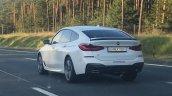 BMW 6 Series Gran Turismo rear three quarters spy shot