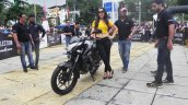 Bajaj Pulsar NS160 unveiled by Ghost Ryderz gallery front three quarter right