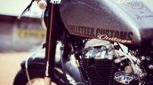 Custom built Royal Enfield Old School by Bulleteer Customs fuel tank