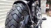 Custom built Royal Enfield Old School by Bulleteer Customs rear tyre