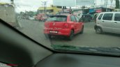 Dual tone red and black VW Polo rear quarter spotted on test in Pune
