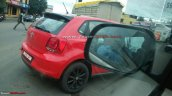 Dual tone red and black VW Polo taillamp spotted on test in Pune
