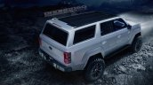 Ford Bronco 4-door rear three quarters elevated view rendering third image
