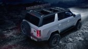 Ford Bronco 4-door rear three quarters elevated view rendering