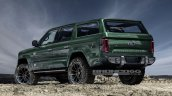 Ford Bronco 4-door rear three quarters rendering fifth image